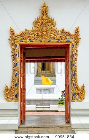 Gate Of Wat Pho (pho Temple) In Bangkok ,thailand