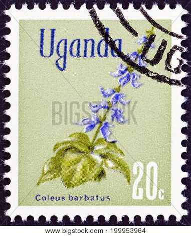UGANDA - CIRCA 1969: A stamp printed in Uganda from the
