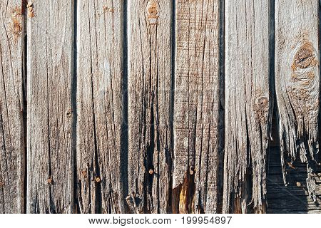 The Texture Of The Old Rotten Wooden Fence