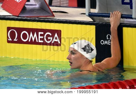 Hong Kong China - Oct 30 2016. Olympic World and European Champion swimmer Katinka HOSSZU (HUN) after the Women's Individual Medley 400m Final. FINA Swimming World Cup.