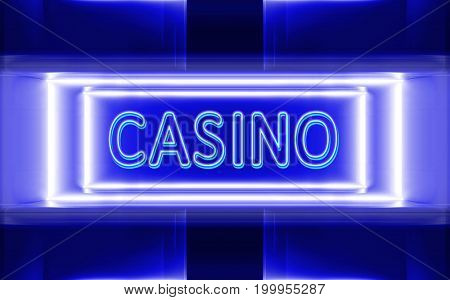 highly technological design of the neon sign of casino