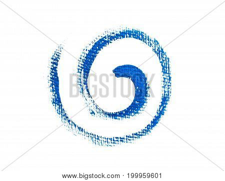 Blue paint grunge spiral. Element for different design