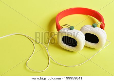 Headset For Music Made Of Plastic. Music Accessories