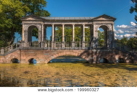 Marble Bridge Catherine Park St Petersburg Pushkin