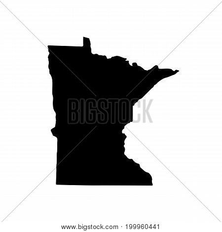 Map of the U.S. state of Minnesota on a white background