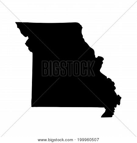 Map of the U.S. state of Missouri on a white background