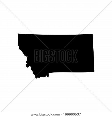 Map of the U.S. state of Montana on a white background