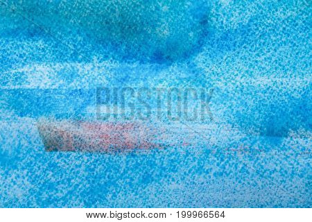 Blue abstract hand painted background, wallpaper, texture, watercolor painting on canvas.