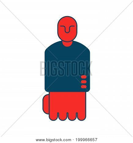 Angry Boss Icon. Red Director Isfist. Business Concept Symbol