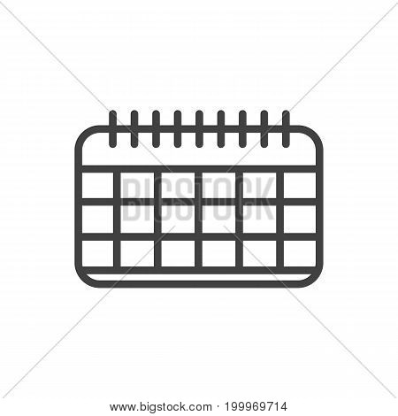 Vector Date Element In Trendy Style.  Isolated Calendar Outline Symbol On Clean Background.