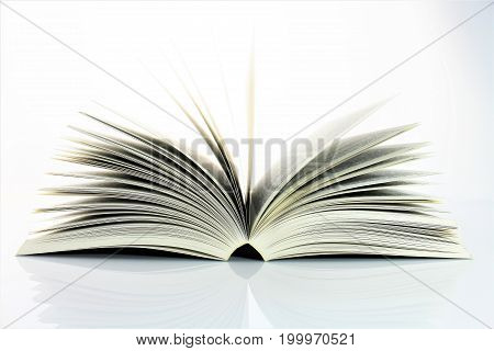 An Image of a open book - education