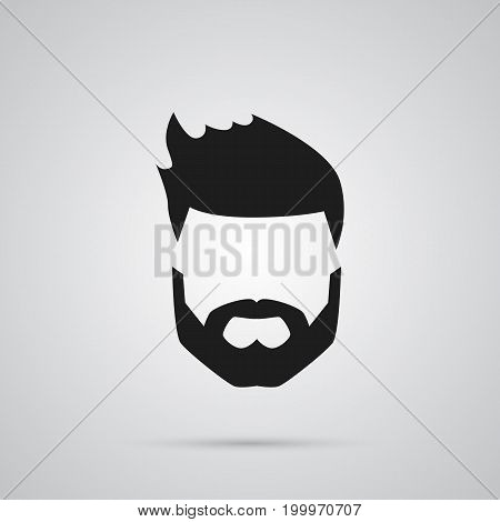 Vector Beard Element In Trendy Style.  Isolated Hairstyle Icon Symbol On Clean Background.