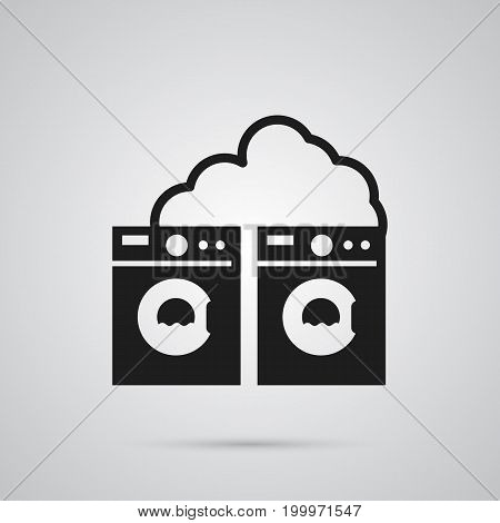 Isolated Laundry Shop Icon Symbol On Clean Background