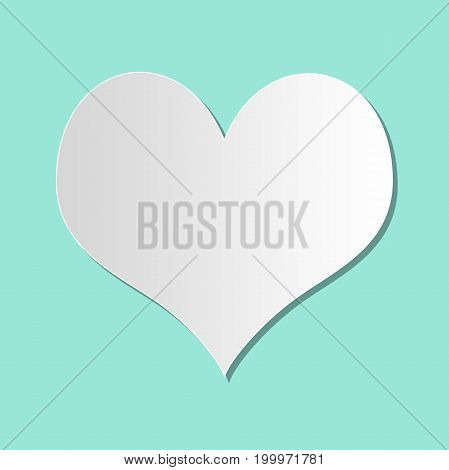 Heart frame for valentine's day with green background