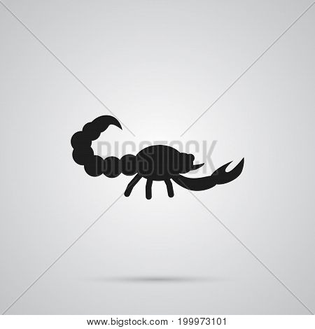 Vector Poisonous Element In Trendy Style.  Isolated Scorpion Icon Symbol On Clean Background.