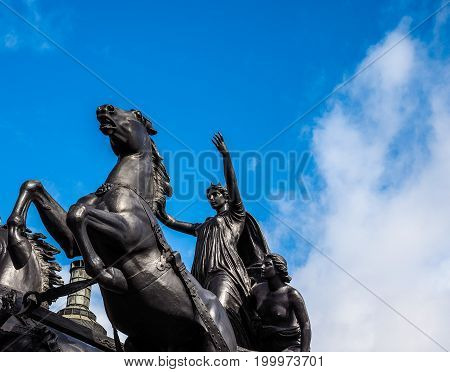 Boadicea Monument In London (hdr)