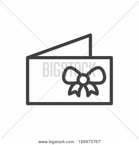 Vector Card Element In Trendy Style.  Isolated Invitation Outline Symbol On Clean Background.