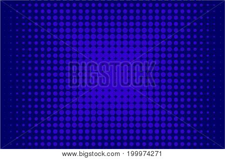Halftone pattern. Comic background. Dotted retro backdrop with circles, dots. Design element for web banners, posters, cards, wallpapers, sites. Pop art style. Vector illustration. Blue