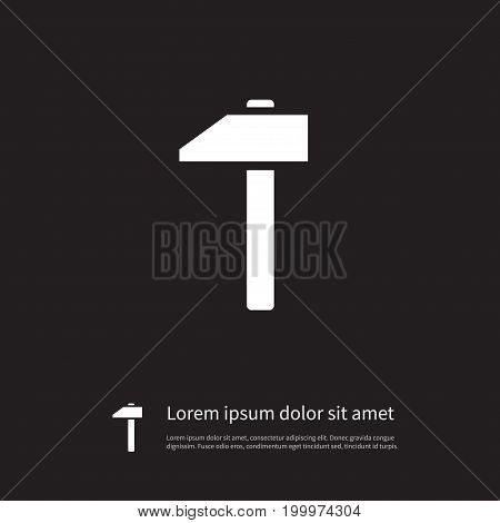 Mallet Vector Element Can Be Used For Construct, Craft, Hammer Design Concept.  Isolated Construct Icon.