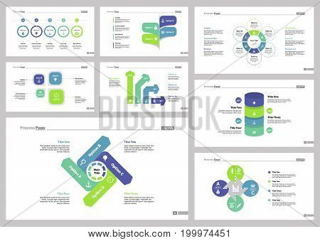 Infographic design set can be used for workflow layout, diagram, annual report, presentation, web design. Business and banking concept with process and percentage charts.