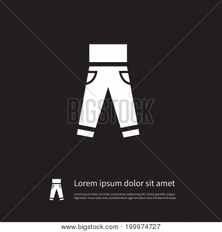 Jeans Vector Element Can Be Used For Leggings, Pantaloons, Jeans Design Concept.  Isolated Leggings Icon.