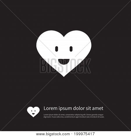 Love Vector Element Can Be Used For Smiling, Love, Heart Design Concept.  Isolated Smiling Icon.