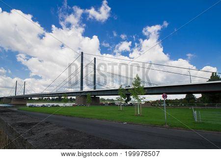The northern Theodor Heuss Bridge in Dusseldorf