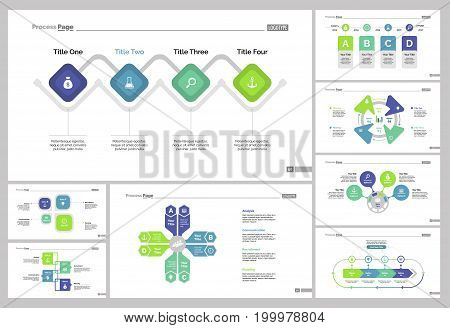 Infographic design set can be used for workflow layout, diagram, annual report, presentation, web design. Business and marketing concept with process charts.