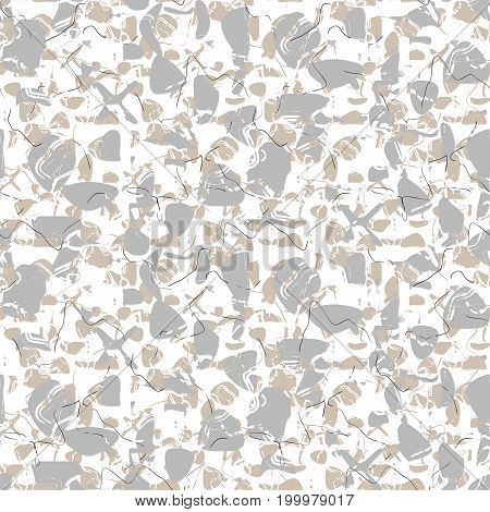 Marble stone seamless white vector pattern. Artificial stone grey and white vector background.