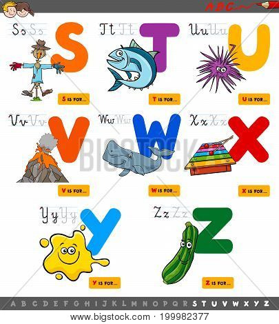 Educational Cartoon Alphabet Set For Children