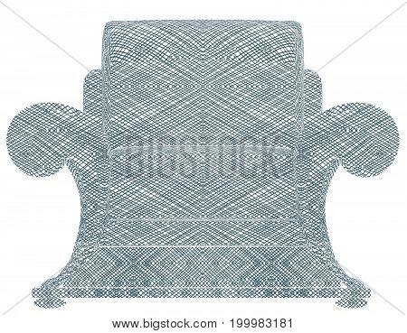 Modern Armchair Isolated On White Illustration Vector
