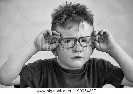 Baby Boy In Eyeglasses
