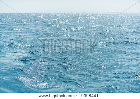 Seascape natural water wallpaper. Travel vacation and sea voyage concept. Abstract marine background. Sea or ocean blue water.