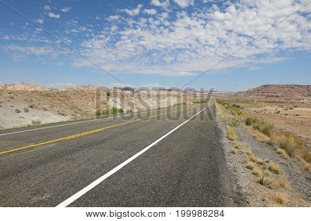 Road to Moab in Utah. United States