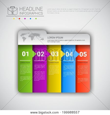 Headline Infographic Design Business Data Graphic Collection Presentation Copy Space Vector Illustration