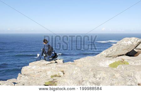 waves crashing onto a rocky shore some beautiful cape coastline