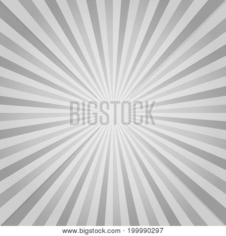 Abstract Gray rays background. Vector EPS 10, cmyk.