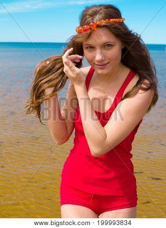 Sunshine Around Me Beach Girl
