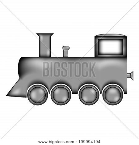 Locomotive sign icon on white background. Vector illustration.