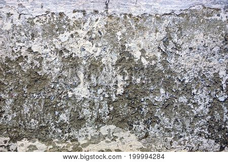 Gray dirty background from part of the foundation of a concrete wall of a private house