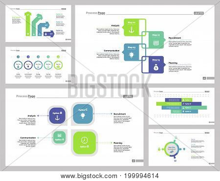 Infographic design set can be used for workflow layout, diagram, annual report, presentation, web design. Business and economics concept with process, bar and percentage charts.