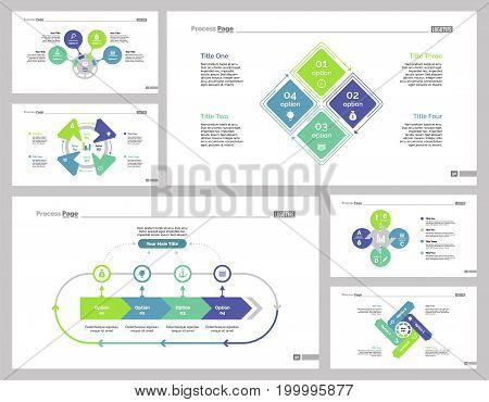 Infographic design set can be used for workflow layout, diagram, annual report, presentation, web design. Business and production concept with process charts.