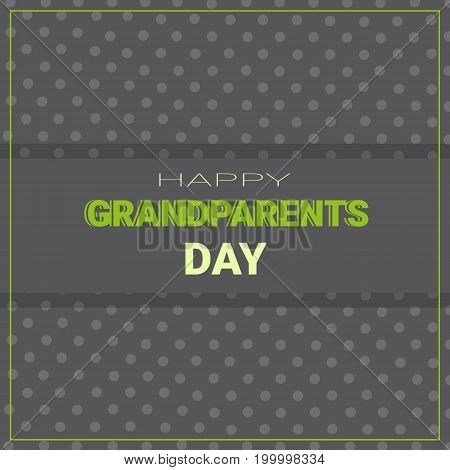 Happy Grandparents Day Greeting Card Banner Vector Illustration
