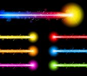 Vector - Laser Neon Colorful Lights Star poster