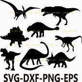 Dinosaurs SVG, Dinosaur Silhouette png, eps, svg, dxf, Dinosaur Clipart, Animals Silhouettes, Silhouette Files, Cut Png File poster