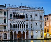 Gothic Palace Ca D Oro at the blue hour Venice Italy poster