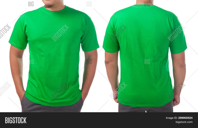 Green T Shirt Mock Image Photo Free Trial Bigstock