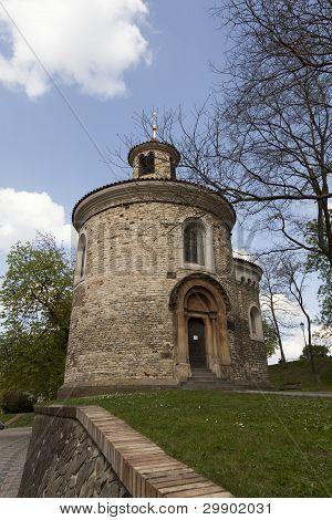 Rotunde Church On Vysehrad In Prague (capital City Of Czech Republic)
