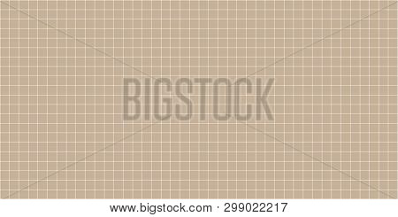 Grid Square Graph Line Full Page On Brown Paper Background, Paper Grid Square Graph Line Texture Of