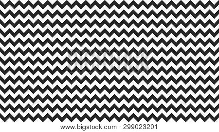 Serrated Striped Black White Color For Background, Art Line Shape Zig Zag Black Color, Wallpaper Str